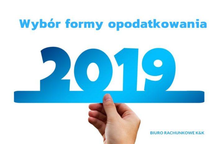 Nowy termin wyboru formy opodatkowania !